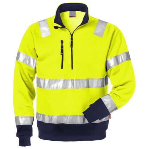 High Vis Zipper-Sweatshirt Kl. 3 728 SHV