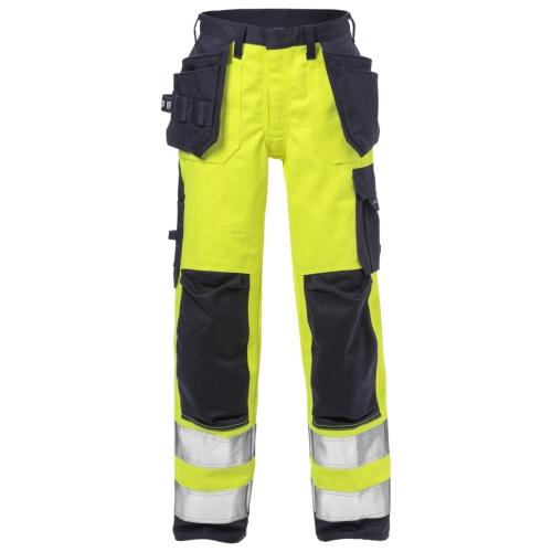 Flame High Vis Handwerkerhosen Damen Kl. 2 2589 FLAM