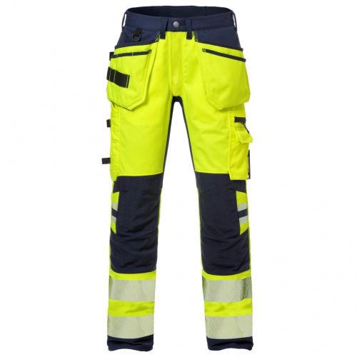 High Vis Handwerkerhose Kl. 2, Flexforce